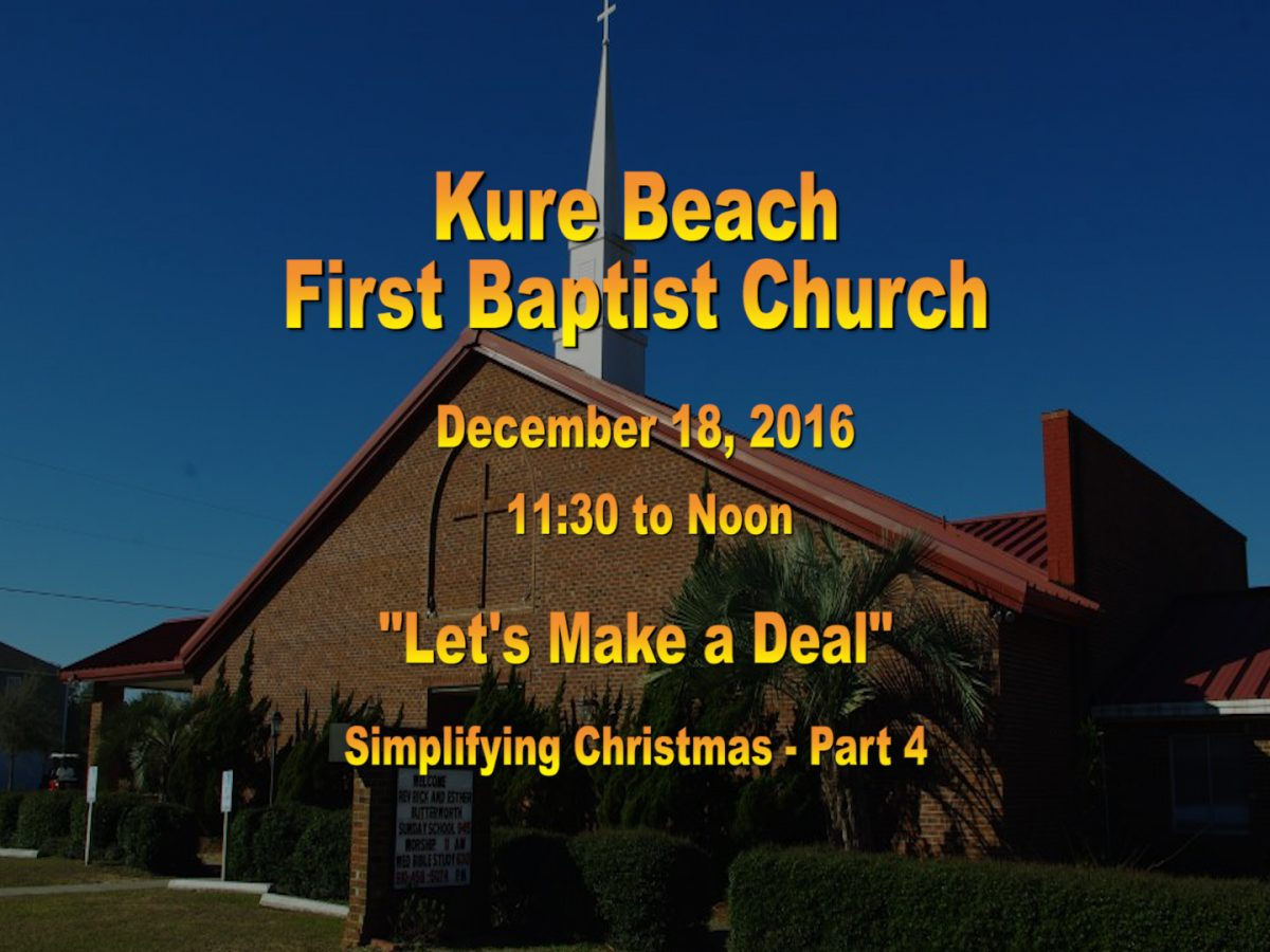 Kure Beach First Baptist Church Service Dec 18th