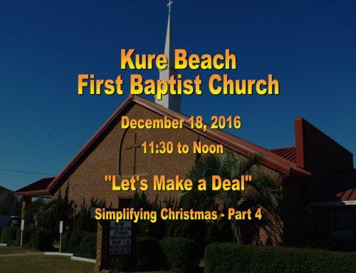 Sermon – December 18th 2016