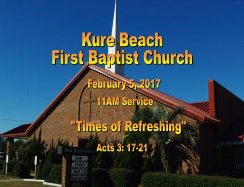 Sermon – February 5th 2017