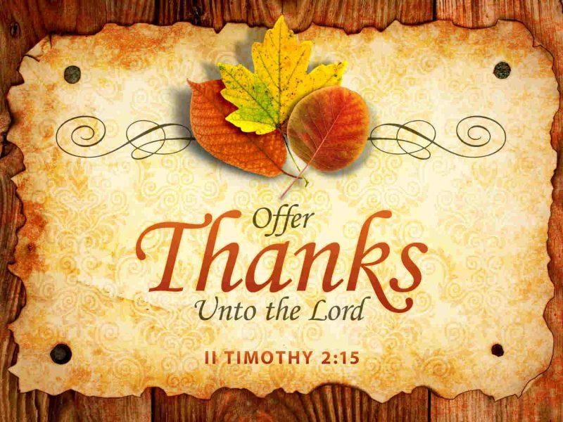Christian Thanksgiving