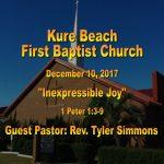 Sermon - December 10th 2017