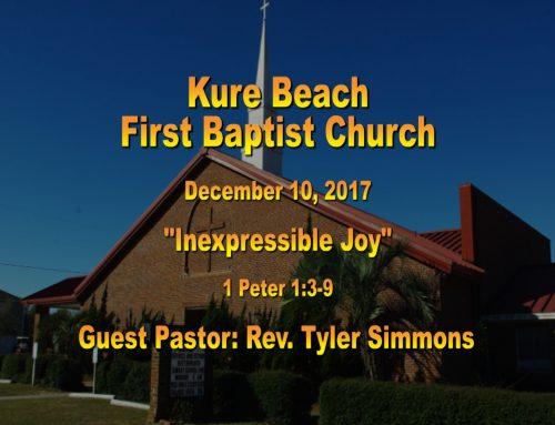 Sermon – December 10th 2017